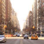 Vue des rues de New-York