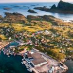 La Norvège vue du ciel