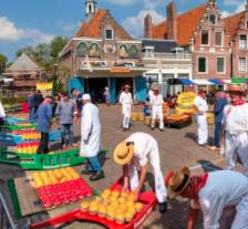 Le marché aux fromages à Edam